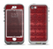 The Dark Red Highlighted Lace Pattern Apple iPhone 5-5s LifeProof Nuud Case Skin Set