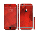 The Dark Red with Translucent Shapes Sectioned Skin Series for the Apple iPhone 6/6s Plus