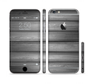 The Dark Vector Horizontal Wood Planks Sectioned Skin Series for the Apple iPhone 6/6s Plus