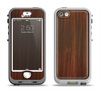 The Dark Walnut Stained Wood Apple iPhone 5-5s LifeProof Nuud Case Skin Set