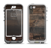 The Dark Wooden Worn Planks Apple iPhone 5-5s LifeProof Nuud Case Skin Set