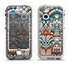 The Decorative Blue & Red Aztec Pattern Apple iPhone 5-5s LifeProof Nuud Case Skin Set