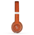 The Deep Orange Texture Skin Set for the Beats by Dre Solo 2 Wireless Headphones