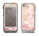 The Distant Pink Flowerland Apple iPhone 5-5s LifeProof Nuud Case Skin Set
