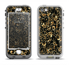 The Elegant Golden Swirls Apple iPhone 5-5s LifeProof Nuud Case Skin Set
