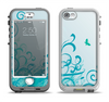 The Escaping Butterfly Floral Apple iPhone 5-5s LifeProof Nuud Case Skin Set