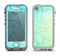The Faded Blue & Green Subtle Floral Apple iPhone 5-5s LifeProof Nuud Case Skin Set
