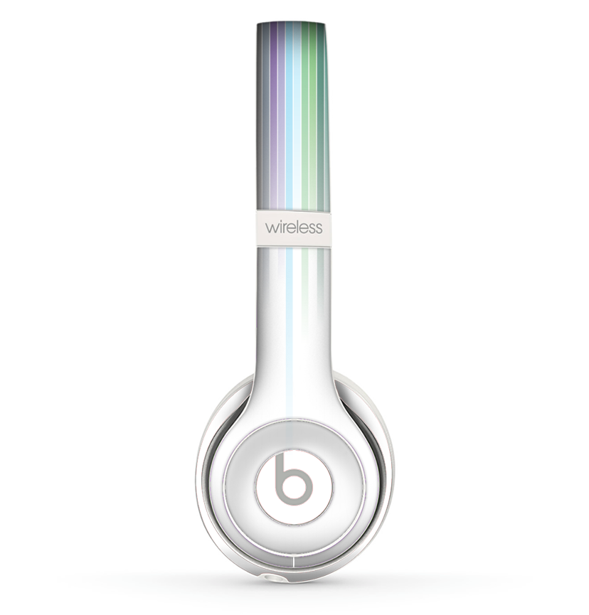 The Faded Pastel Color Stripes Skin Set For The Beats By Dre Solo 2 Wi Theskindudes