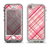 The Fancy Pink Vintage Plaid Apple iPhone 5-5s LifeProof Nuud Case Skin Set