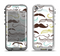 The Fashion Mustache Variety On White Apple iPhone 5-5s LifeProof Nuud Case Skin Set