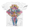 The Flourished Sacred Elephant ink-Fuzed Unisex All Over Full-Printed Fitted Tee Shirt
