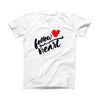 The Follow Your Heart ink-Fuzed Front Spot Graphic Unisex Soft-Fitted Tee Shirt