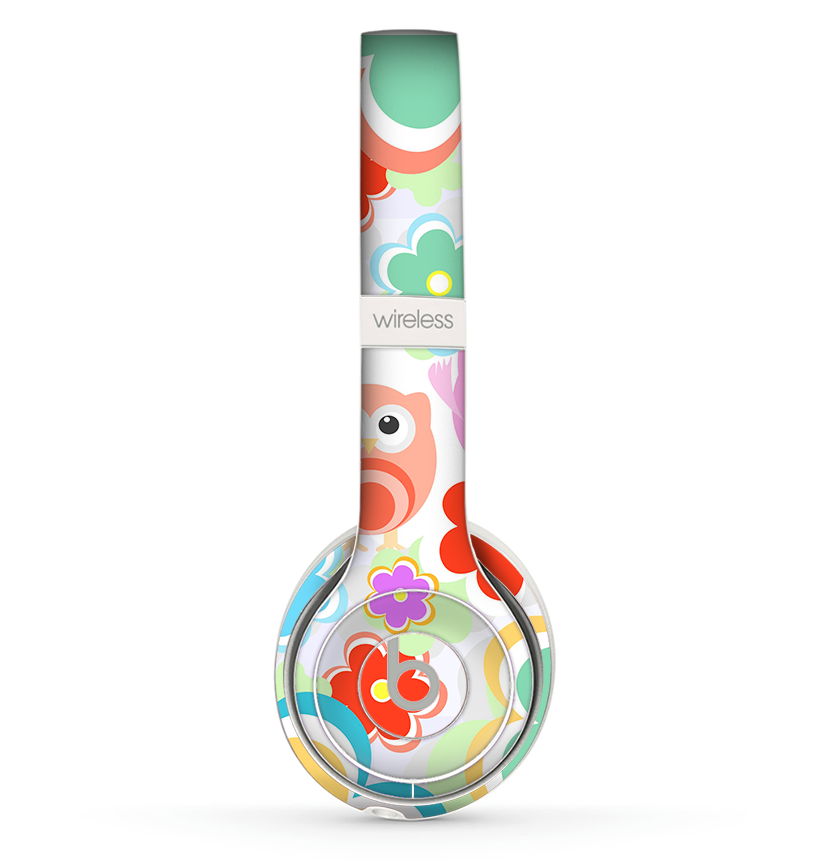 The Fun Colored Cartoon Owls Skin Set For The Beats By Dre Solo 2 Wire Theskindudes