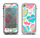 The Fun Colored Vector Pattern Hearts Apple iPhone 5-5s LifeProof Nuud Case Skin Set