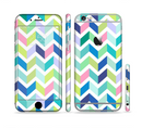 The Fun Colored Vector Segmented Chevron Pattern Sectioned Skin Series for the Apple iPhone 6/6s Plus