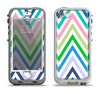The Fun Colored Vector Sharp Chevron Pattern Apple iPhone 5-5s LifeProof Nuud Case Skin Set