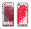 The Geometric Faded Red Heart Apple iPhone 5-5s LifeProof Nuud Case Skin Set