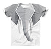 The Geometric Gray Elephant ink-Fuzed Unisex All Over Full-Printed Fitted Tee Shirt