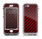 The Glossy Red Carbon Fiber Apple iPhone 5-5s LifeProof Nuud Case Skin Set