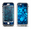 The Glowing Blue Music Notes Apple iPhone 5-5s LifeProof Nuud Case Skin Set