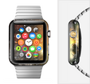 The Glowing Gold & Black Nebula Full-Body Skin Set for the Apple Watch