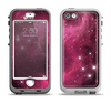 The Glowing Pink Nebula Apple iPhone 5-5s LifeProof Nuud Case Skin Set