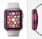 The Glowing Pink Outlined Hearts Full-Body Skin Set for the Apple Watch