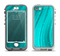 The Glowing Teal Abstract Waves Apple iPhone 5-5s LifeProof Nuud Case Skin Set