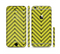 The Gold & Black Sketch Chevron Sectioned Skin Series for the Apple iPhone 6/6s Plus