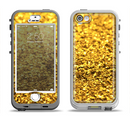 The Gold Glimmer Apple iPhone 5-5s LifeProof Nuud Case Skin Set
