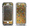 The Gold Hearts and Confetti Pattern Apple iPhone 5-5s LifeProof Nuud Case Skin Set