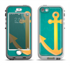 The Gold Stretched Anchor with Green Background Apple iPhone 5-5s LifeProof Nuud Case Skin Set