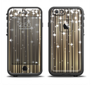 The Gold & White Shimmer Strips Apple iPhone 6/6s LifeProof Fre Case Skin Set