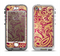 The Gold and Red Paisley Pattern Apple iPhone 5-5s LifeProof Nuud Case Skin Set