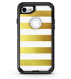 The Gold and White Horizontal Stripes - iPhone 7 or 8 OtterBox Case & Skin Kits