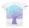 The Gradiated Tree of Life ink-Fuzed Unisex All Over Full-Printed Fitted Tee Shirt