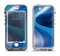 The Gradient Waves of Blue Apple iPhone 5-5s LifeProof Nuud Case Skin Set