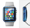 The Gradient Waves of Blue Full-Body Skin Set for the Apple Watch