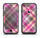 The Gray & Bright Pink Plaid Layered Pattern V5 Apple iPhone 6/6s LifeProof Fre Case Skin Set