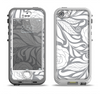 The Gray Floral Pattern V3 Apple iPhone 5-5s LifeProof Nuud Case Skin Set