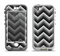 The Gray Toned Layered CHevron Pattern Apple iPhone 5-5s LifeProof Nuud Case Skin Set