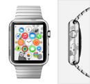 The Gray & White Large Paw Prints Full-Body Skin Set for the Apple Watch