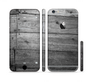 The Gray Worn Wooden Planks Sectioned Skin Series for the Apple iPhone 6/6s Plus