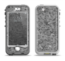 The Grayscale Flower Petals Apple iPhone 5-5s LifeProof Nuud Case Skin Set