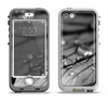 The Grayscale Watered Leaf Apple iPhone 5-5s LifeProof Nuud Case Skin Set