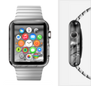 The Grayscale Watered Leaf Full-Body Skin Set for the Apple Watch