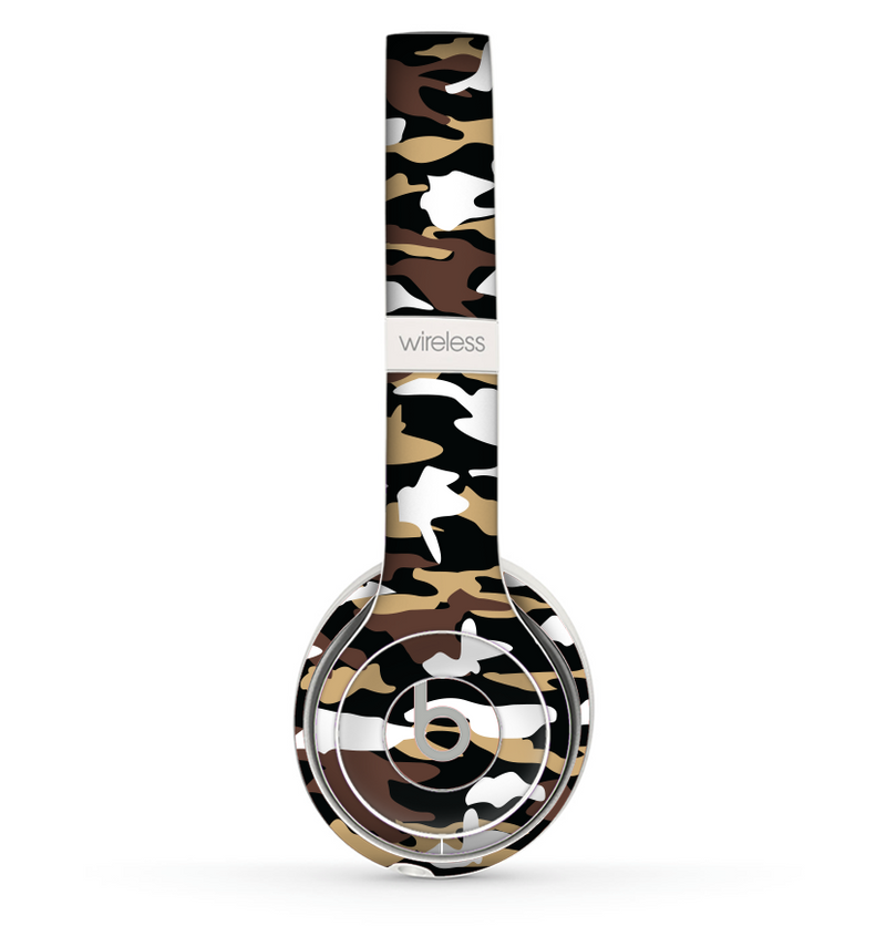 The Green-Tan & White Traditional Camouflage Skin Set for the Beats by Dre Solo 2 Wireless Headphones