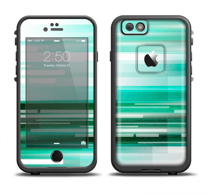 The Green Abstract Vector HD Lines Apple iPhone 6/6s LifeProof Fre Case Skin Set