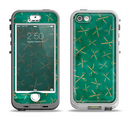The Green And Gold Vintage Scissors Apple iPhone 5-5s LifeProof Nuud Case Skin Set