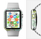 The Green & Blue Subtle Seamless Leaves Full-Body Skin Set for the Apple Watch